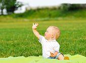 Little Boy Portrait With Air Bubble
