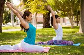 Yoga Practice Outdoors