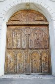Wooden Door On Cocos Monastery,  Dobrogea , Romania