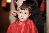 Haircut For Little Caucasian Boy