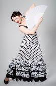 Female Spanish Flamenco Dancer
