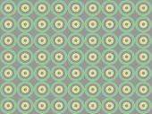 picture of psychodelic  - Green circles on grey backgroung - JPG