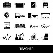 Teacher Profession And Teaching Icons Eps10