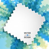 Abstract White Text Design Box on Zigzag Line Pattern