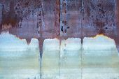 Old Rusty Corrosion Weathered Of Water Iron Gate, Background