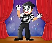 Mime theme image 2 - eps10 vector illustration.