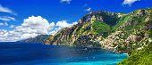 scenery Amalfi coast of Italy - panorama, Positano
