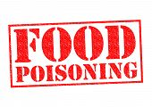 stock photo of e coli  - FOOD POISONING red Rubber Stamp over a white background - JPG