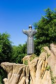 pic of patron  - the patron saint of Italy Francis of Assisi who established the order of the Franciscans - JPG