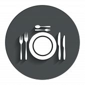 pic of trident  - Plate dish with forks and knifes - JPG