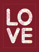 Vector folk floral circles abstract love text frame pattern invitation greeting card template
