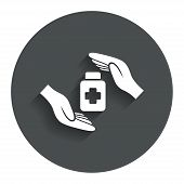 Medical insurance sign. Health insurance symbol.