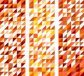 Tile vector pattern set with triangle mosaic background