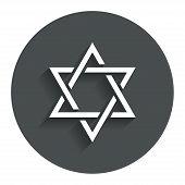 Star of David sign icon. Symbol of Israel.