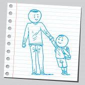 School kid with dad