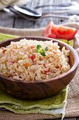 Rice with tomatoes and onions