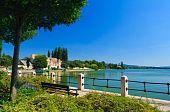 stock photo of tatas  - Lake and park in Tata - JPG