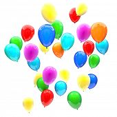 birthday balloons 3d image wallpaper