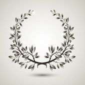 Vector silver laurel wreath