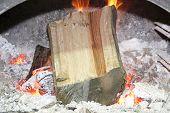 Broken Log In The Fire