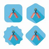 Skipping Rope Flat Icon With Long Shadow, Eps10