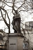 stock photo of berzelius  - The statue of Berzelius in Stockholm Sweden - JPG