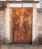 Old Metal Door With Rusty