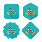 pic of tricycle  - Kids Tricycle Flat Icon With Long Shadow - JPG