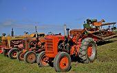 Vintage Case Tractor Lineup