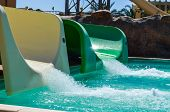 Water slides at aqua park