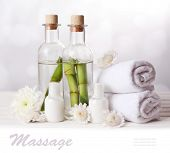 Spa setting on light background