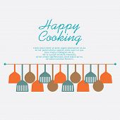 Happy Cooking Concept.