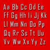 Font 3d set letter