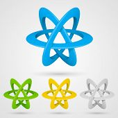 Atom set symbol on a white background