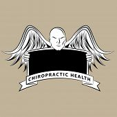 An image of a chiropractic health blank sign.