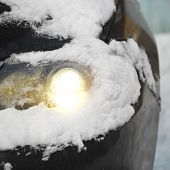 Headlight Under Snow