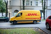 DHL delivery van VW Crafter