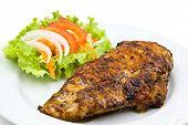 Grilled Chicken Steak With Salad.