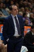 VALENCIA, SPAIN - JANUARY 24: Duran during Spanish League match between Valencia Basket Club and UCAM Murcia at Fonteta Stadium on January 24, 2015 in Valencia, Spain