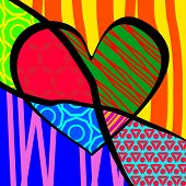 Vector Illustration for Valentine's Day. pop-art