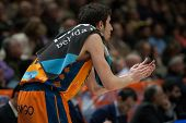VALENCIA, SPAIN - JANUARY 24: Vives during Spanish League match between Valencia Basket Club and UCAM Murcia at Fonteta Stadium on January 24, 2015 in Valencia, Spain