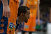 VALENCIA, SPAIN - JANUARY 24: Rojas during Spanish League match between Valencia Basket Club and UCAM Murcia at Fonteta Stadium on January 24, 2015 in Valencia, Spain