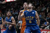 VALENCIA, SPAIN - JANUARY 24: during Spanish League match between Valencia Basket Club and UCAM Murcia at Fonteta Stadium on January 24, 2015 in Valencia, Spain