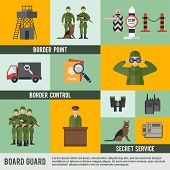 Border Guard Icon Flat