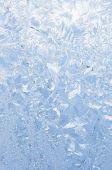 Background of beautiful frosty pattern on glass