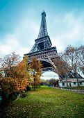 Paris Eiffel Tower, winter colors