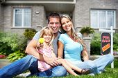 picture of dream home  - Happy Family near new home - JPG