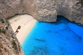 Overview on Zakynthos island Greece