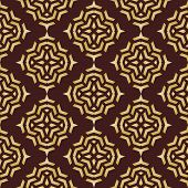 Geometric Abstract Seamless Vector Pattern with Brown and Golden Colors