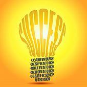 Golden Success Word Bulb